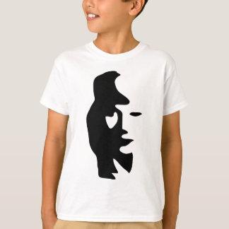T-shirt Illusion optique de saxophone ou de femme