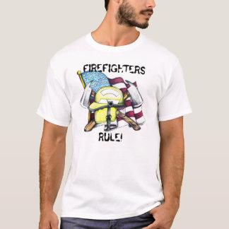 T-shirt illustration américaine de sapeur-pompier,