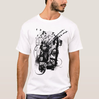 T-shirt Illustration artistique de poing urbain artistique