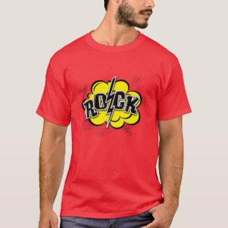 T-shirt Illustration comique de roche de style