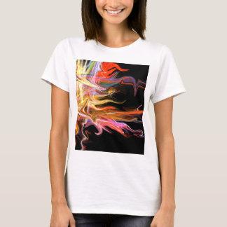 T-shirt illustration cosmique AR du feu d'abrégé sur