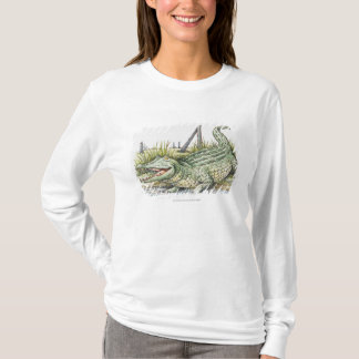 T-shirt Illustration d'alligator sur le rivage