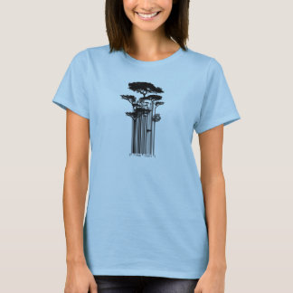 T-shirt Illustration d'arbres de code barres