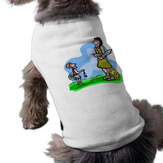 T-shirt Illustration de chrétien de David et de Goliath
