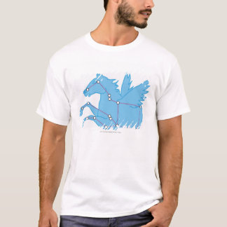 T-shirt Illustration de constellation de Pegasus
