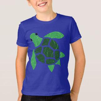 T-shirt Illustration de mosaïque de tortue de mer de vert