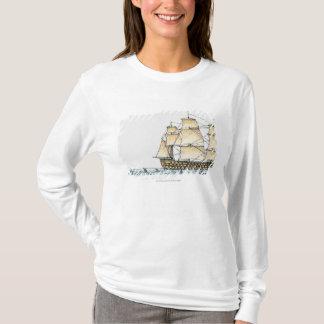T-shirt Illustration de navire de guerre de fin du 18ème