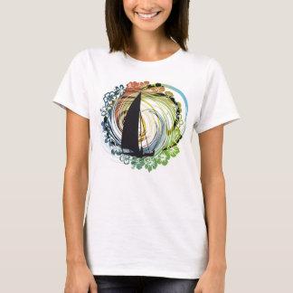T-shirt Illustration de planche à voile