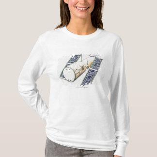 T-shirt Illustration de satellite utilisée pour la