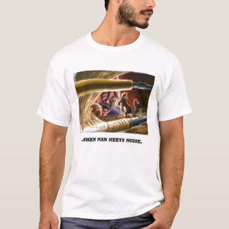 T-shirt Illustration de souris de piano de joueur