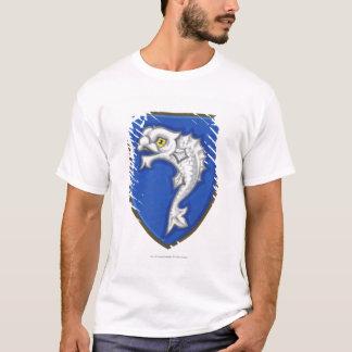 T-shirt Illustration de symbole héraldique de poissons sur