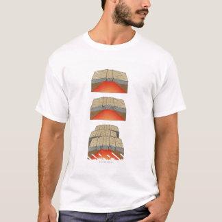 T-shirt Illustration des plats océaniques séparant et