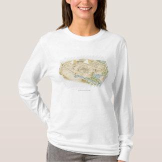 T-shirt Illustration des pyramides de Gizeh