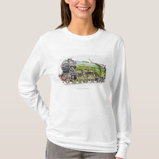 T-shirt Illustration du train de Scotsman de vol