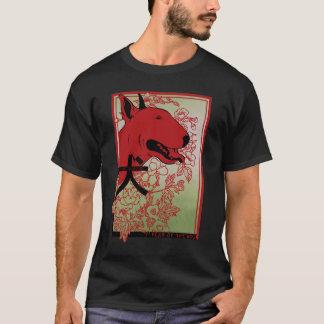 T-shirt Illustration inspirée asiatique de bull-terrier