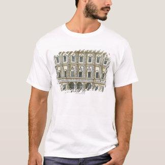T-shirt Illustration noire et blanche de façade de 18ème