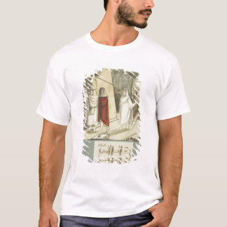 T-shirt Illustration pour la cannelure magique de Mozart