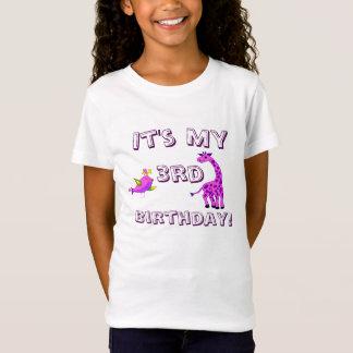 T-Shirt Illustration rose de girafe d'imaginaire