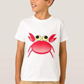 T-shirt Illustration rouge d'animation de crabe
