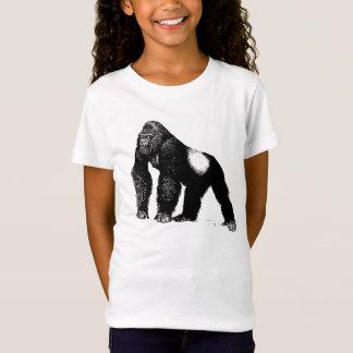 T-Shirt Illustration vintage de gorille de Silverback,