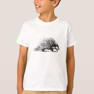 T-shirt Illustration vintage de porc-épic - porcs-épics
