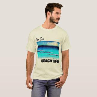 T-shirt Im sur la chemise des hommes de temps de plage