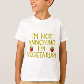 T-shirt I'm urgence Annoying I'm Vegetarian fraises