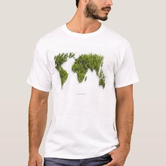 T-shirt image de carte du monde
