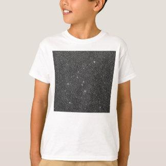 T-shirt Image de scintillement noir et gris