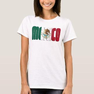 T-shirt Image des textes de drapeau du Mexique