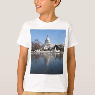 T-shirt Image d'hiver de bâtiment de capitol des USA