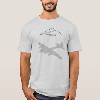 T-shirt Imagination trop active d'avion de papier