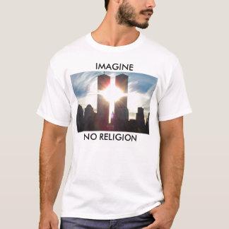 T-shirt Imaginez, aucune religion
