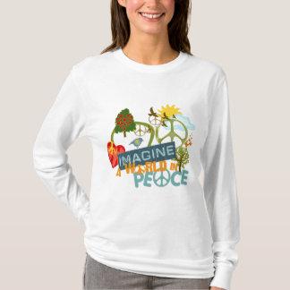 T-shirt Imaginez un monde dans la paix