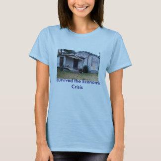 T-shirt img317, j'ai survécu à la crise économique