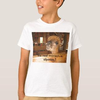 """T-shirt IMG_0591, """"le vrai argent dans les alpaga. """""""
