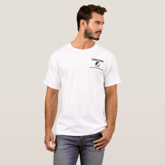T-shirt Impact - conception originale blanche de logo