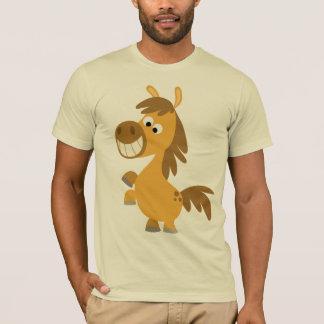 T-shirt impétueux de poney de bande dessinée