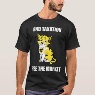 T-shirt Imposition de fin - libérez le texte blanc AnCap T