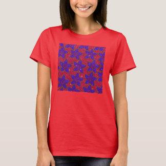 T-shirt Impression florale de parties scintillantes de
