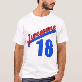 T-shirt Impressionnant à 18 années de 18ème anniversaire