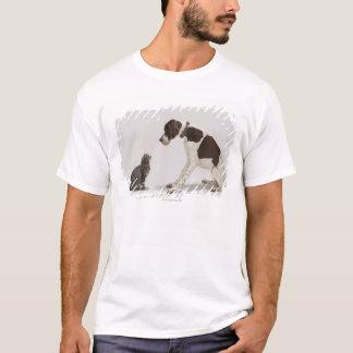 T-shirt Indicateur regardant vers le bas le chat