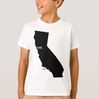 T-shirt Indicatif régional 510, la Californie, région de