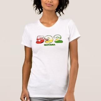 T-shirt Indicatif régional 592 pour la Guyane