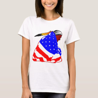 T-shirt Indien d'Amerique indigène enveloppé dans le