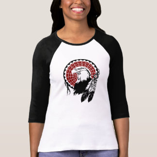 T-shirt indien de raglan d'Eagle Dreamcatcher