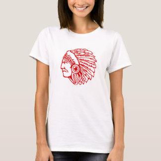 T-shirt Indien rouge de Peau Rouge