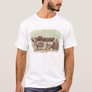 T-shirt Indiens de Cheyenne sur le mouvement, 1878 (photo