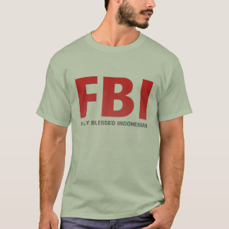 T-shirt Indonésien entièrement béni de FBI