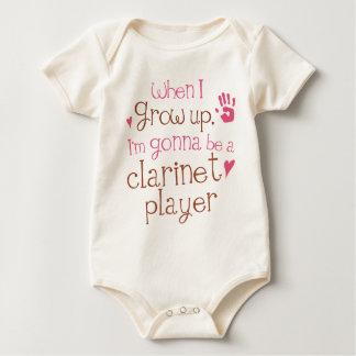 T-shirt infantile de bébé de joueur de clarinette